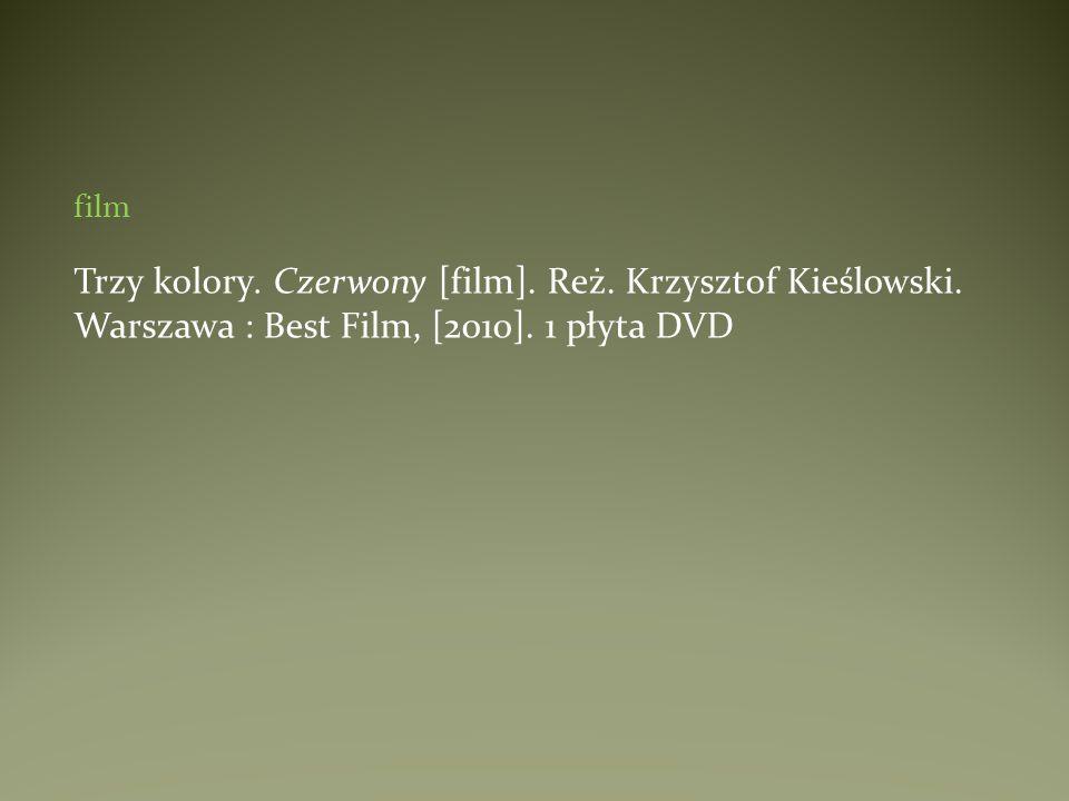 filmTrzy kolory. Czerwony [film].Reż. Krzysztof Kieślowski.